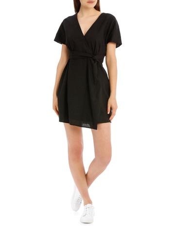 f258d61c513 Milk   Honey Twist Front Linen Dress