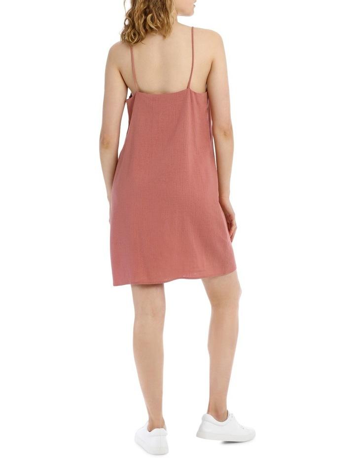 Linen Blend Ruched Front Dress image 3