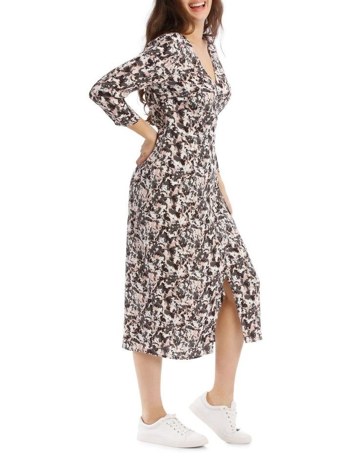 Pampas Print Long Sleeve Midi Wrap Dress image 2