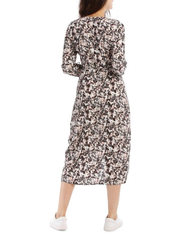 Pampas Print Long Sleeve Midi Wrap Dress image 3