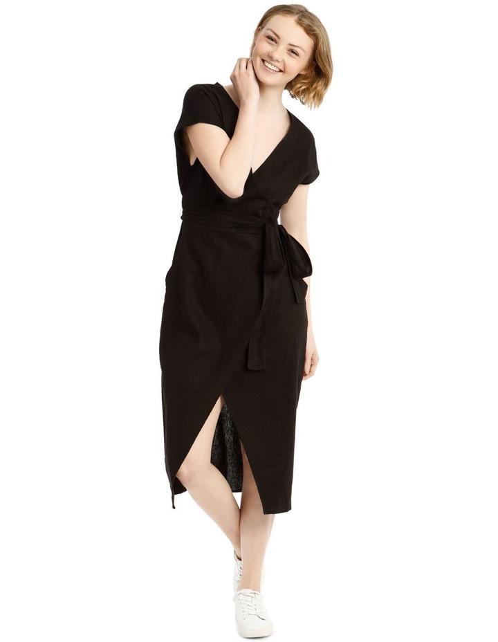 Wrap Linen Midi Dress image 1