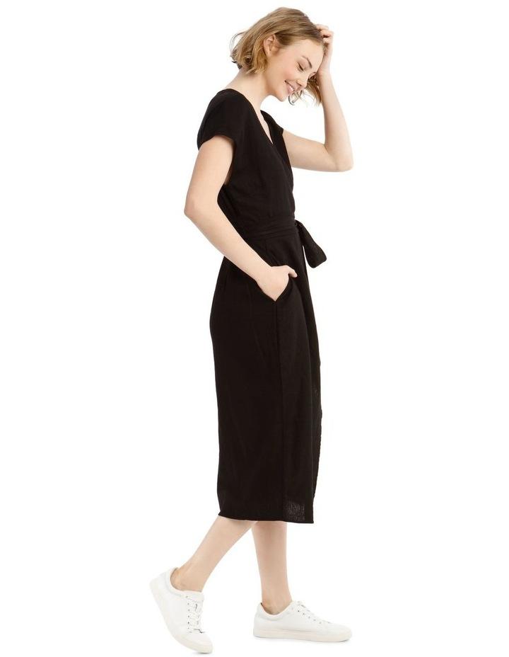 Wrap Linen Midi Dress image 2