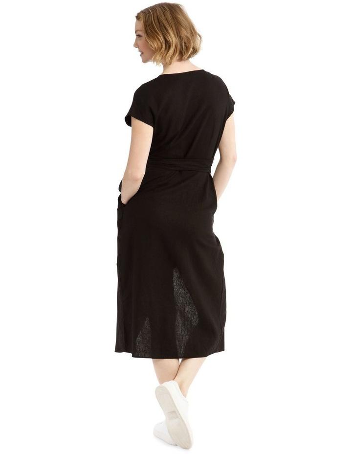 Wrap Linen Midi Dress image 3