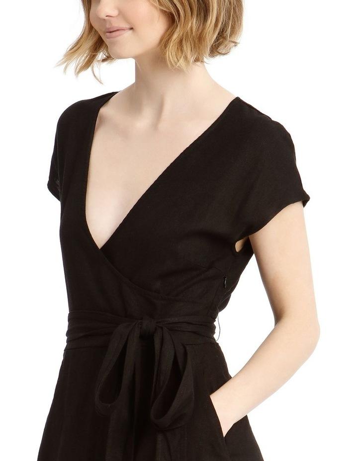Wrap Linen Midi Dress image 4
