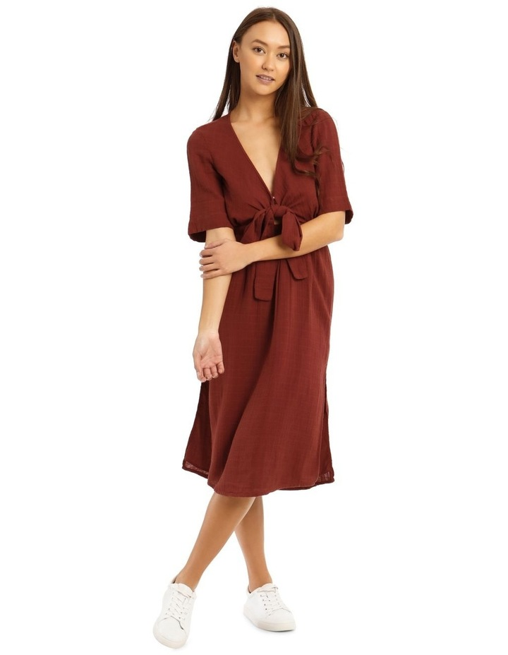 Deep V-Neck Tie Dress image 1