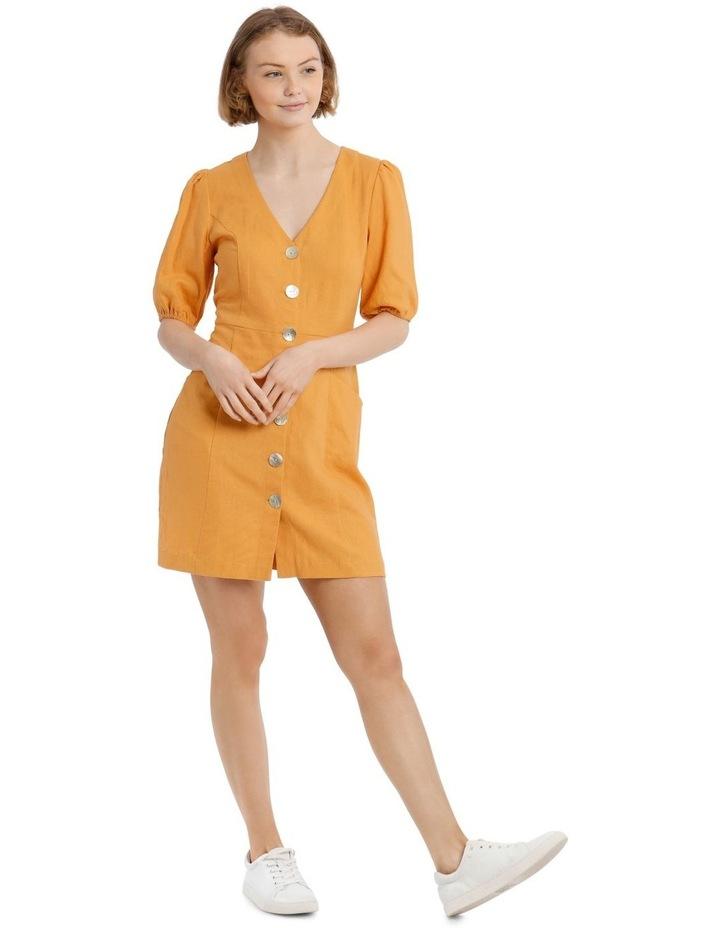 Puff Sleeve Buckle Dress image 1
