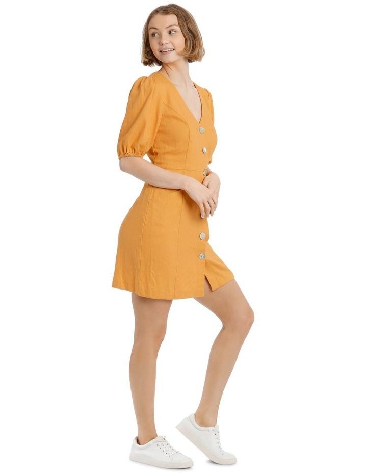 Puff Sleeve Buckle Dress image 2