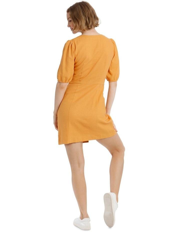 Puff Sleeve Buckle Dress image 3