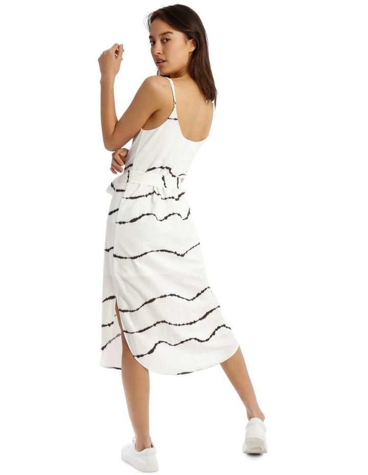 Scoop Back Tie Waist Dress image 3