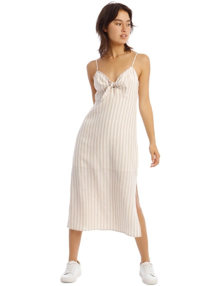 Linen Midi Tie Front Dress image 1