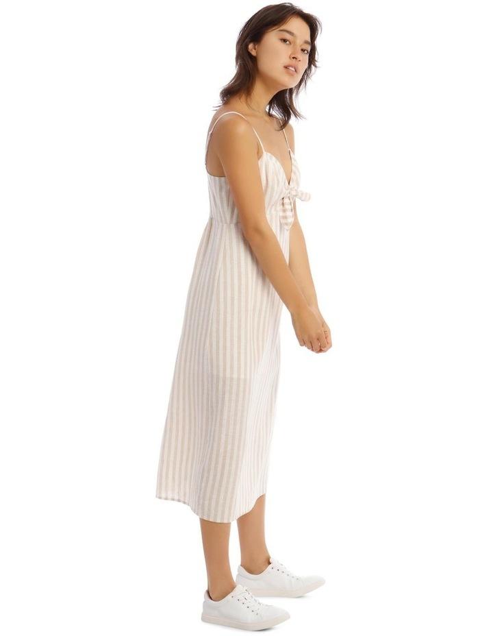 Linen Midi Tie Front Dress image 2