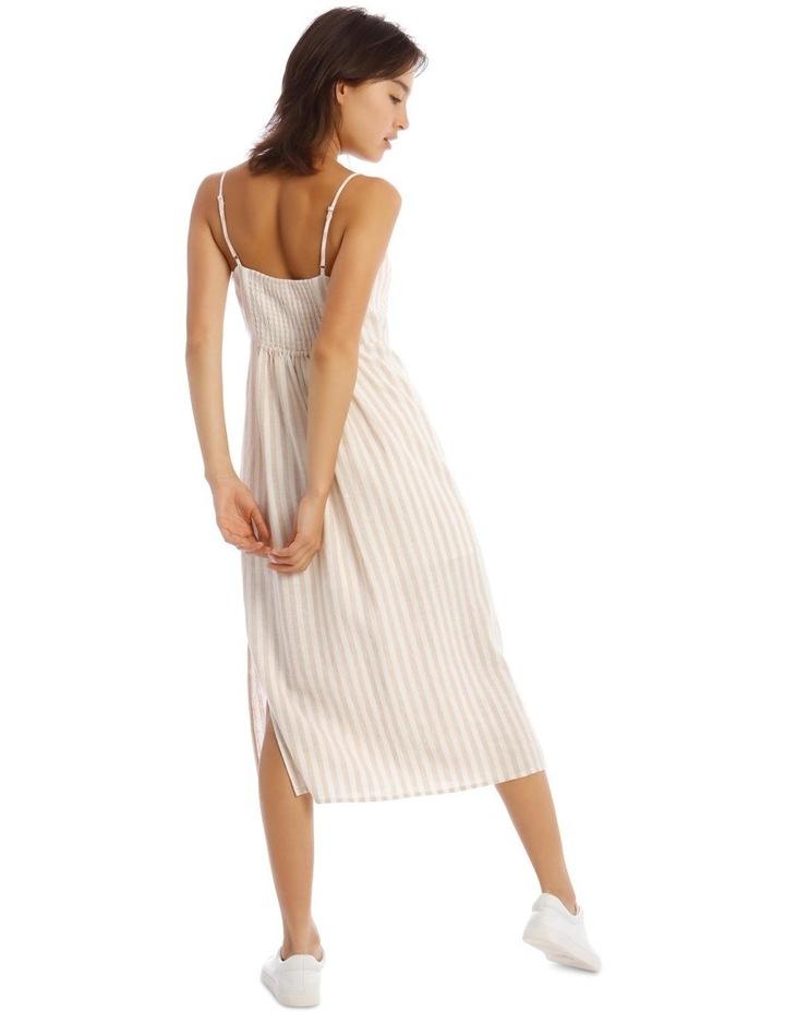 Linen Midi Tie Front Dress image 3