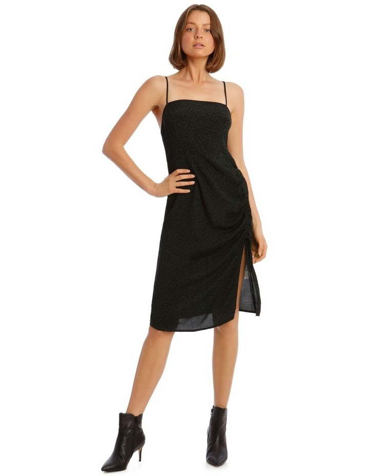 Rouched Side Detail Midi Dress image 1