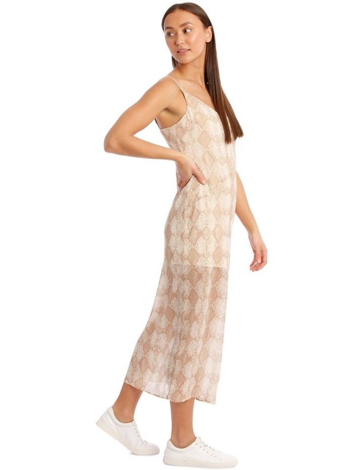 Snakeskin Print Midi Dress image 2