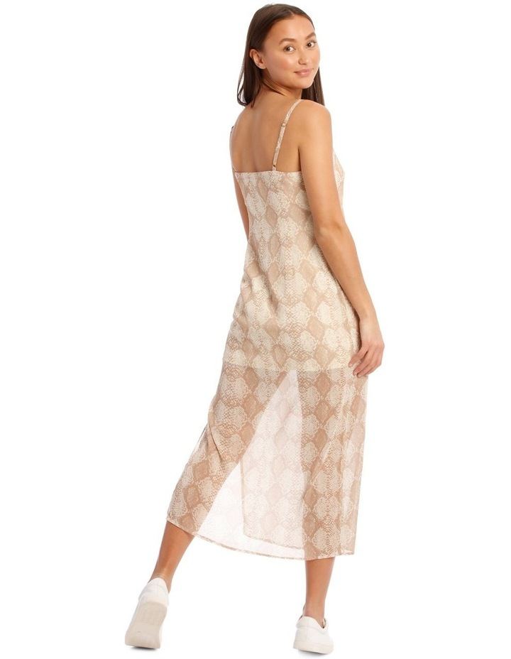 Snakeskin Print Midi Dress image 3