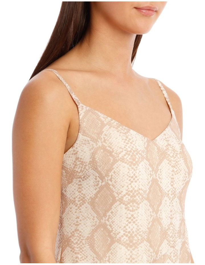 Snakeskin Print Midi Dress image 4