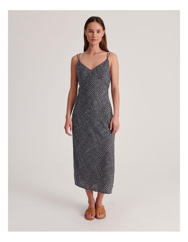 Slip Dress in Indigo Dash Print image 1