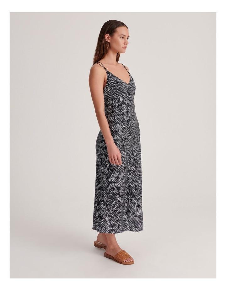 Slip Dress in Indigo Dash Print image 2