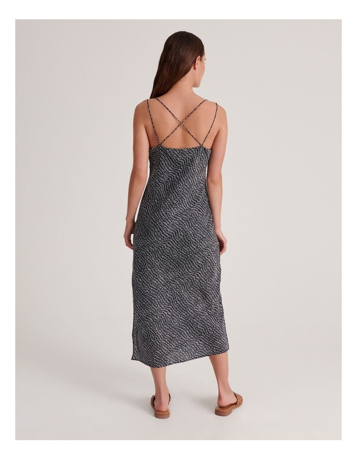 Slip Dress in Indigo Dash Print image 3