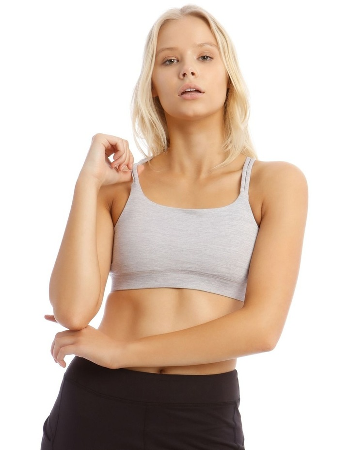 Balance Crop Top in Grey Marle image 1