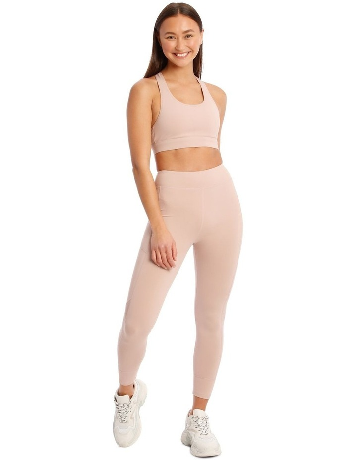 Performance Crop Top In Blush image 4