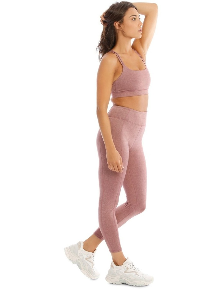 Balance Crop Top In Mauve Marle image 2