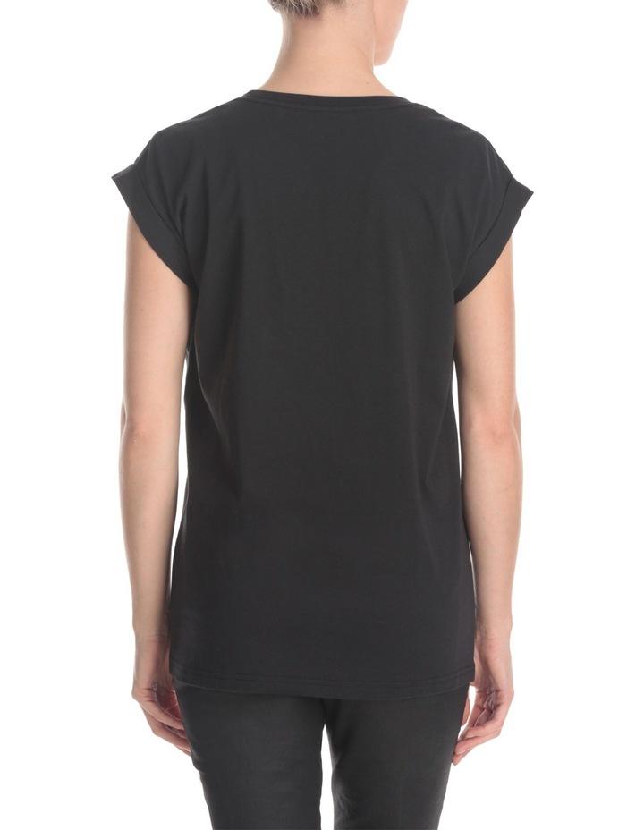 Boyfriend Roll Sleeve T-Shirt image 3