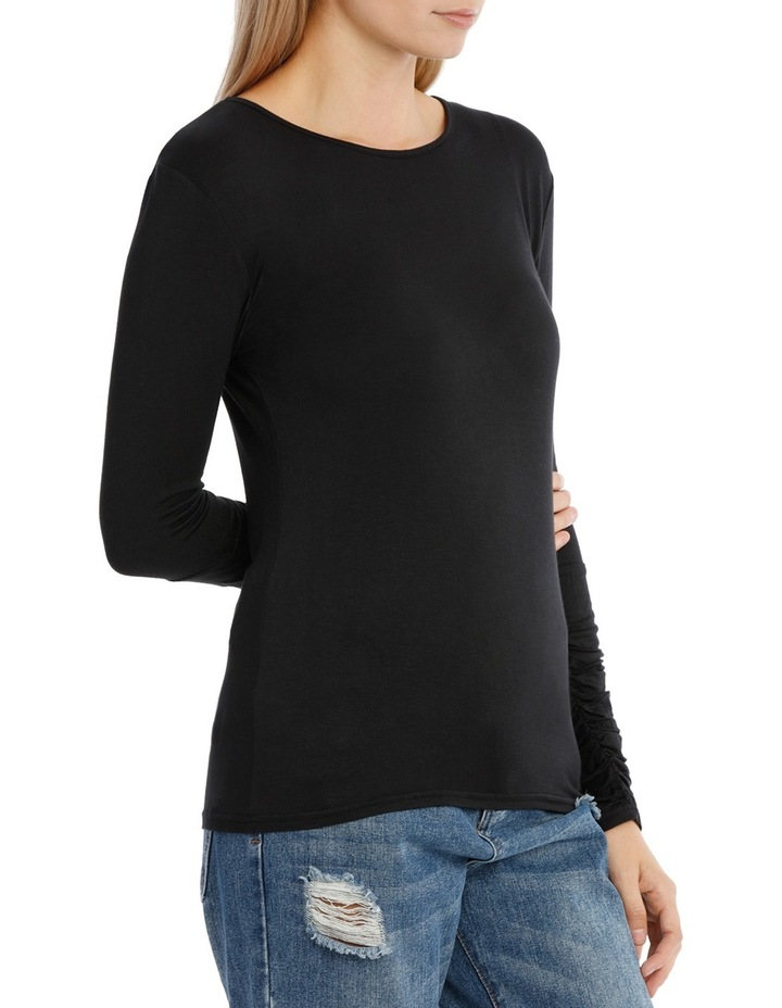 Long Sleeve Ruched Layering Top image 2