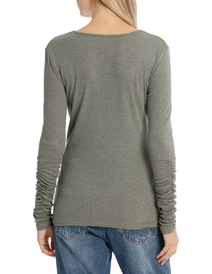 Long Sleeve Ruched Layering Top image 3