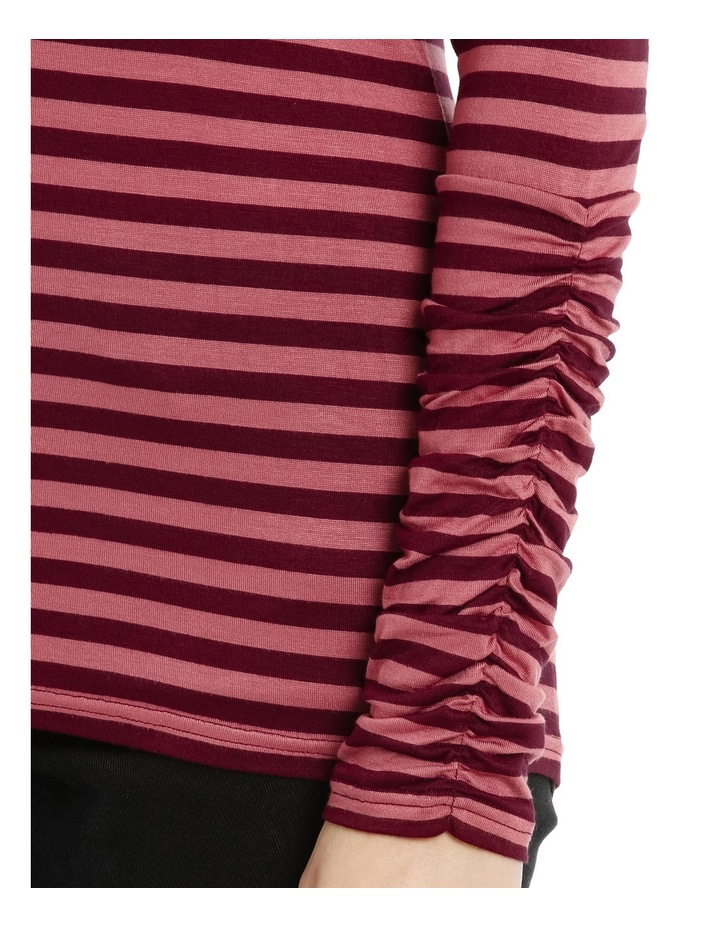 Long Sleeve Ruched Layering Top image 4