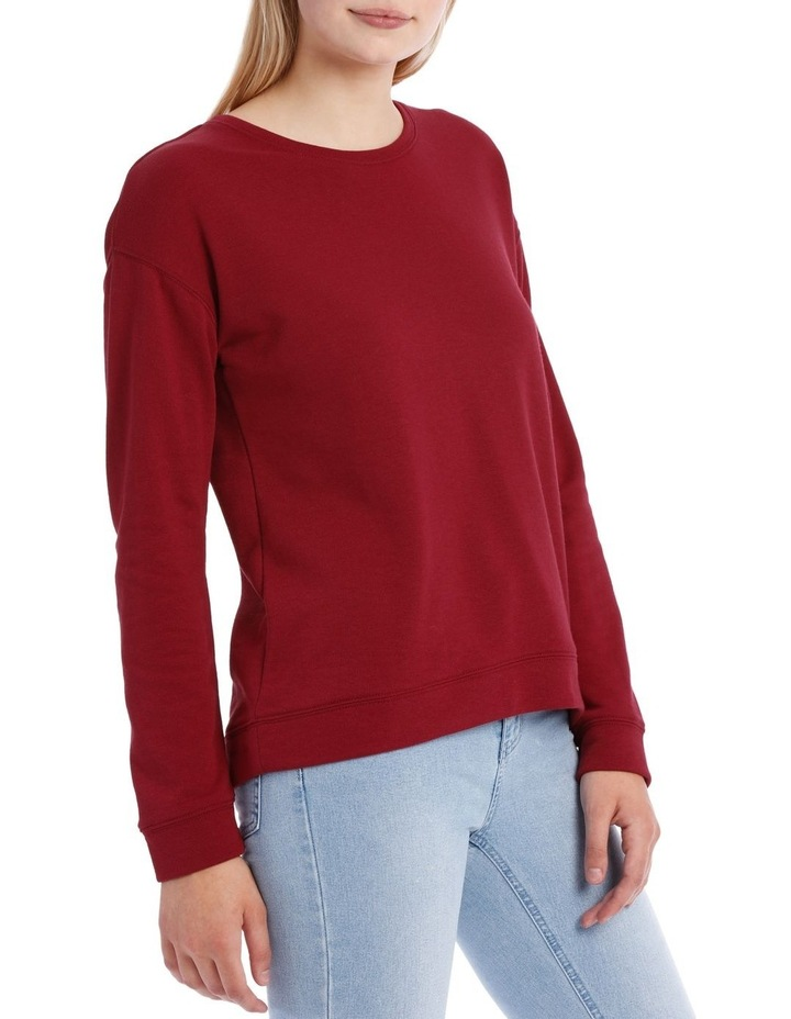 Terry Back Basic Sweat Top image 2
