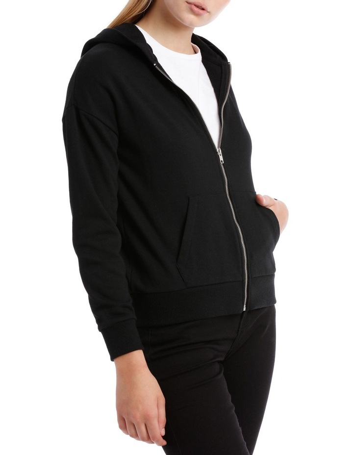 Terry Back Zip Through Hooded Sweat Top image 2