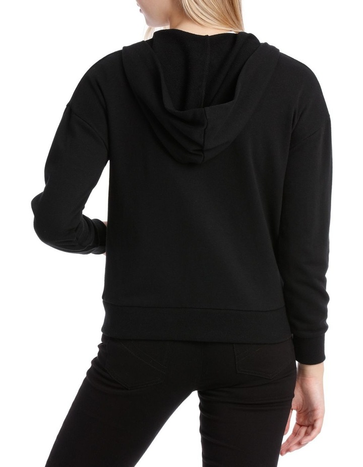 Terry Back Zip Through Hooded Sweat Top image 3