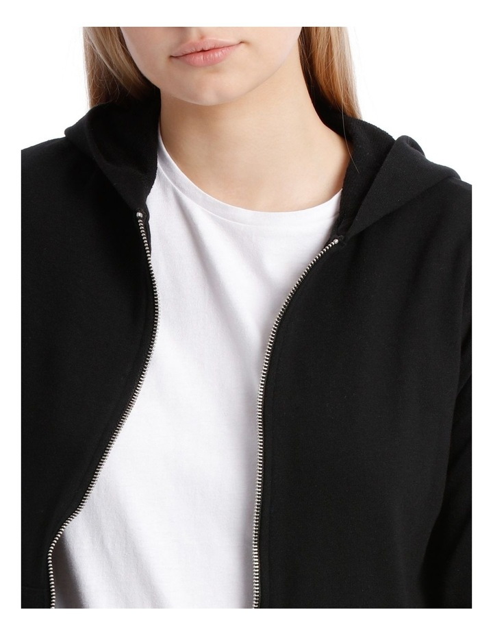 Terry Back Zip Through Hooded Sweat Top image 4