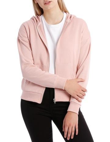 9590781c63 Miss Shop EssentialsTerry Back Zip Through Hooded Sweat Top. Miss Shop  Essentials Terry Back Zip Through Hooded Sweat Top