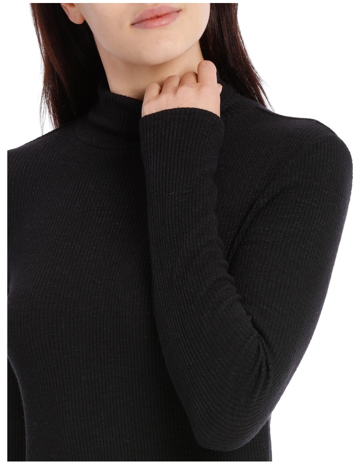 Roll Neck Long Sleeve Rib Top image 4