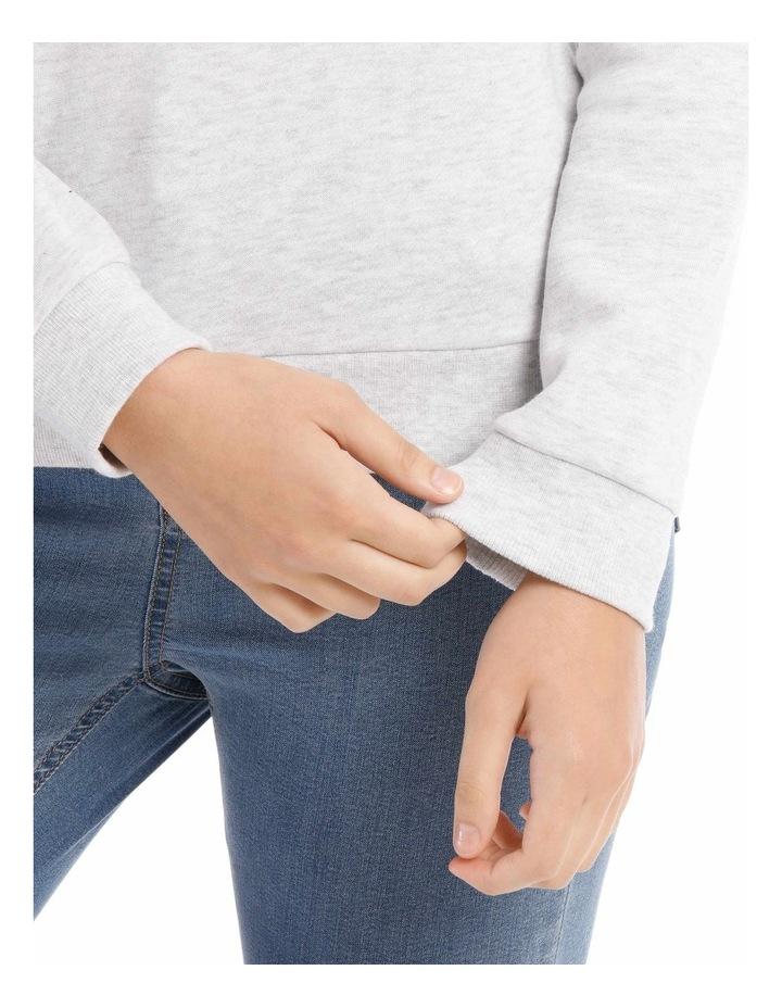 Fleece Back Basic Sweat Top image 4
