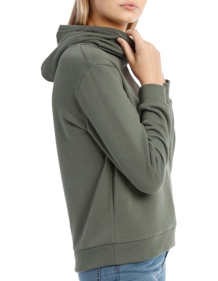 Fleece Back Hooded Sweat Top image 2