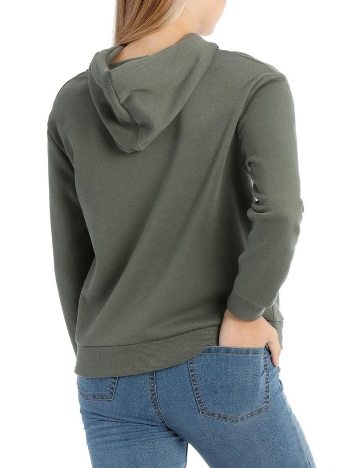 Fleece Back Hooded Sweat Top image 3