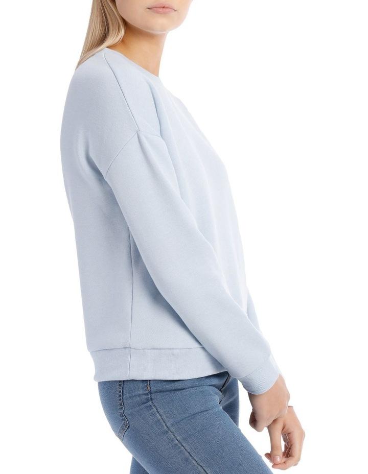 Fleece Back Basic Sweat Top image 2