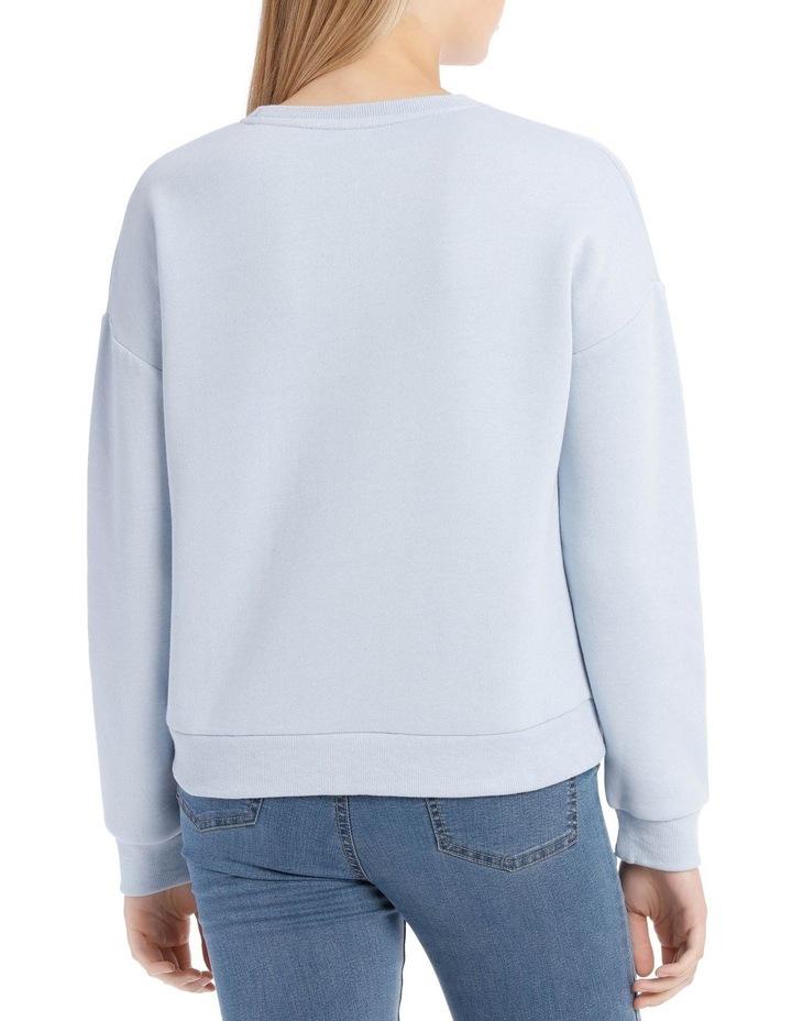 Fleece Back Basic Sweat Top image 3