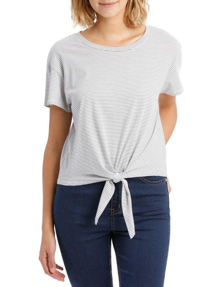 Short Sleeve Tie Front Top image 1