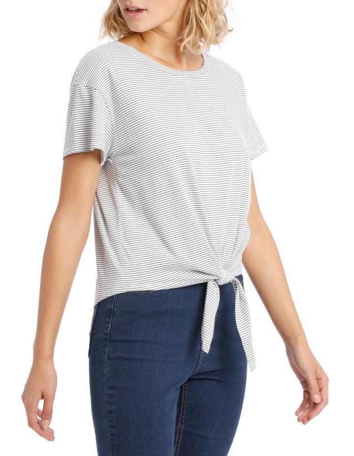 Short Sleeve Tie Front Top image 2