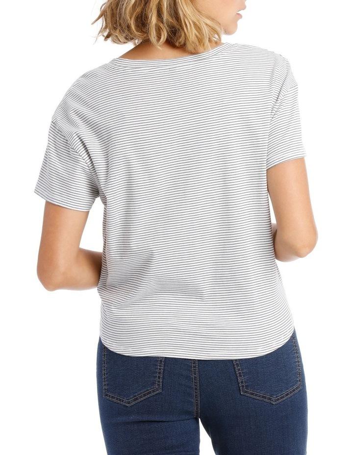 Short Sleeve Tie Front Top image 3