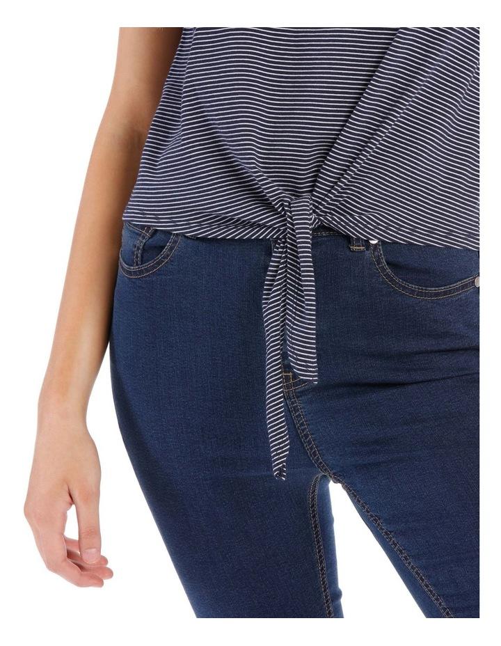 Short Sleeve Tie Front Top image 4