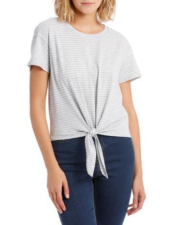 bae9fe6a335 Miss Shop EssentialsShort Sleeve Tie Front Top. Miss Shop Essentials Short  Sleeve Tie Front Top