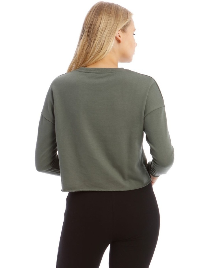 Terry Back Crop Sweat Top image 3
