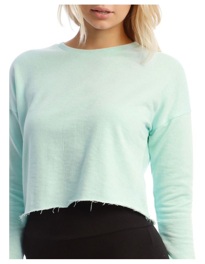 Terry Back Crop Sweat Top image 4