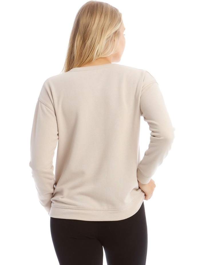 Terry Back Basic Sweat Top image 3