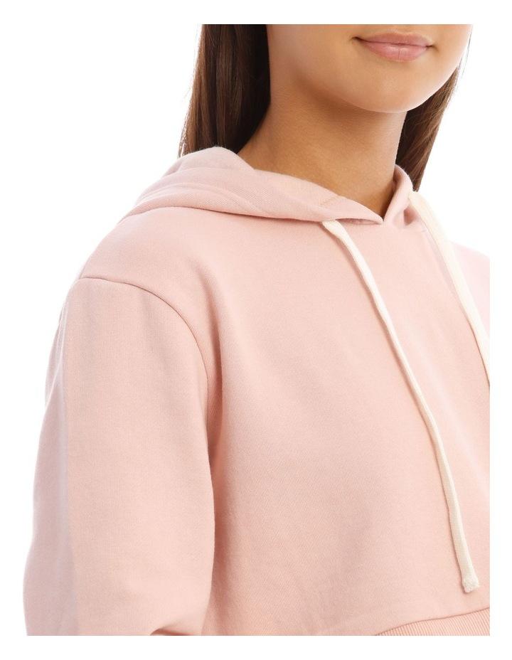 Fleece Back Hooded Cropped Sweat Top image 4
